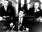 President John F. Kennedy expands U.S. Space Program